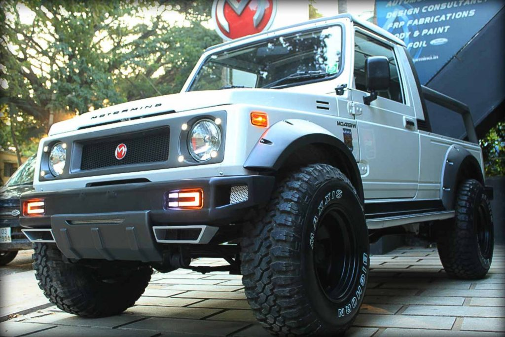 This Maruti Suzuki Gypsy has been modified by Motormind Automotive Designs which is Bangalore-based car modifier.