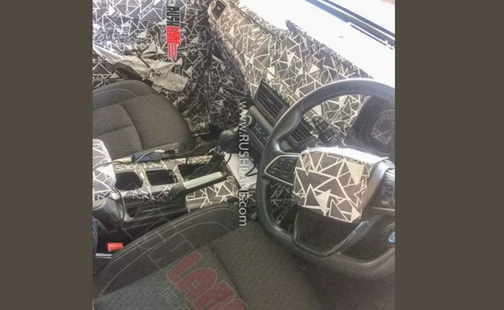 Here's a look at the interiors of the next-gen Mahindra XUV500.