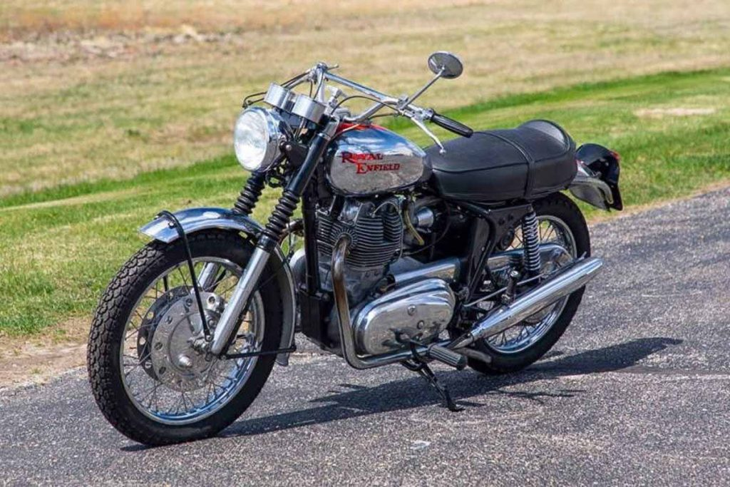 This is a Series 1A Royal Enfield Interceptor from 1968.