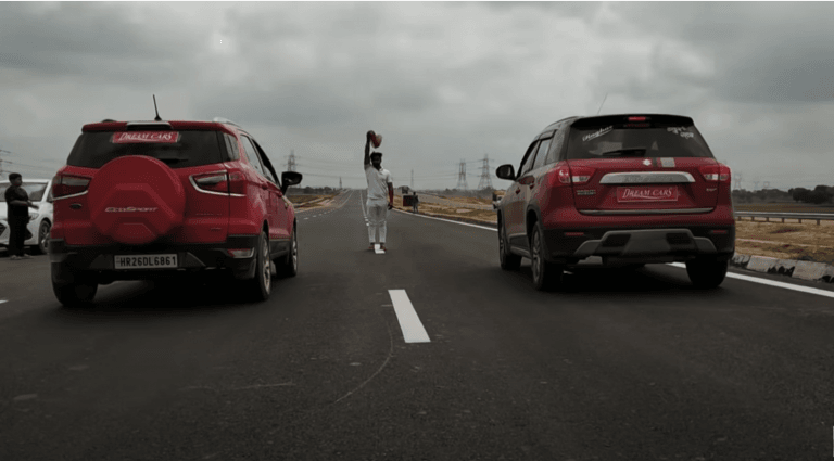 Maruti Vitara Brezza Vs Ford EcoSport Drag Race – Results Will Shock You!