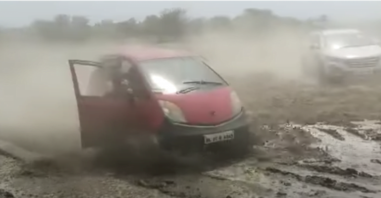 Tata Nano Goes Off-Roading With Mahindra Thar – See The Impressive Capabilities!