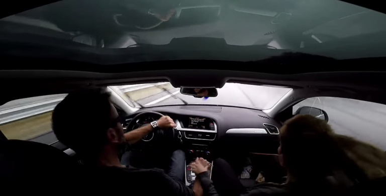 Go Pro Captures An Audi A4 Going Out Of Control At 140 Km/hr – Video