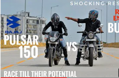 Royal Enfield Bullet 350 Vs Bajaj Pulsar 150 – See Who Wins The Race