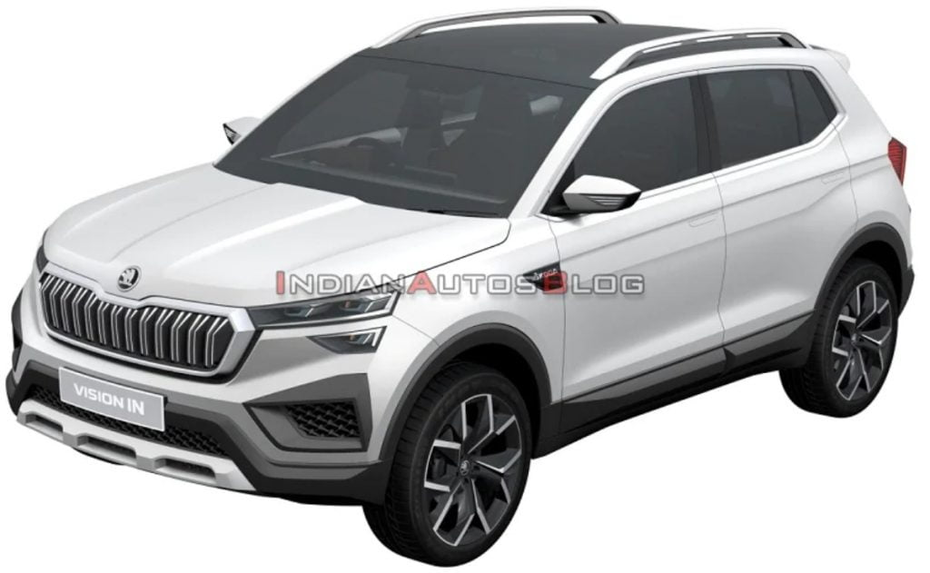 These are leaked patent images of the upcoming Skoda Vision IN SUV.