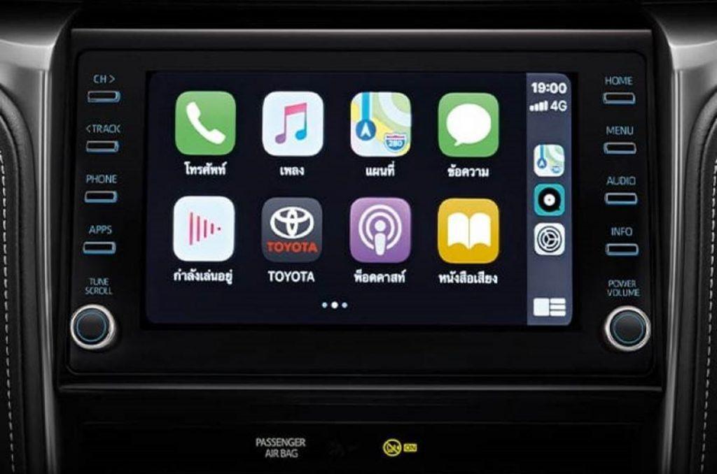 Le lifting Fortuner bénéficie également d'un plus grand système d'infodivertissement à écran tactile de 8,0 pouces.