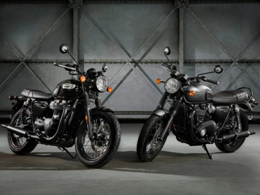 Triumph a lancé en Inde les éditions Black Bonneville T100 et T120 au même prix que les modèles standard.
