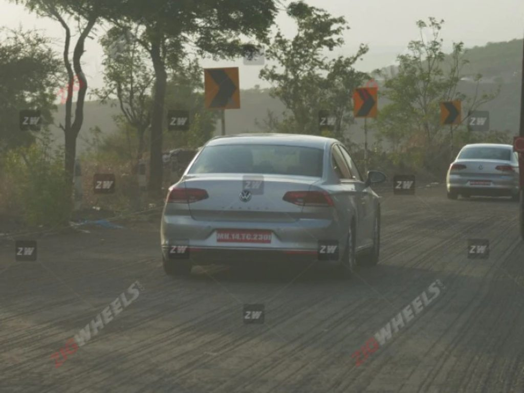 Volkswagen Passat Spied Testing in India; likely to be re-launched with a petrol engine.