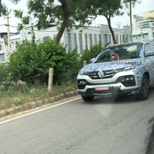 Here's The First Undisguised Spy Shot Of The Renault Kiger Compact SUV