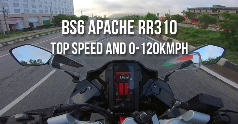 Check Out The 0-100 kph Time and Top-Speed of BS6 TVS Apache RR 310 – Video