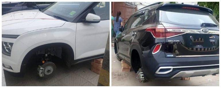 Thieves In Delhi Are Stealing Tyres Of Kia Seltos And New Hyundai Creta
