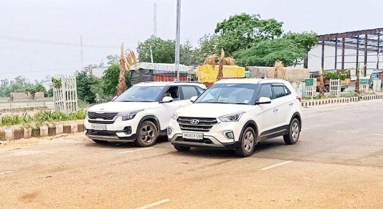Kia Seltos vs old Hyundai Creta – Drag Race – Find Out Who Comes Out on Top!