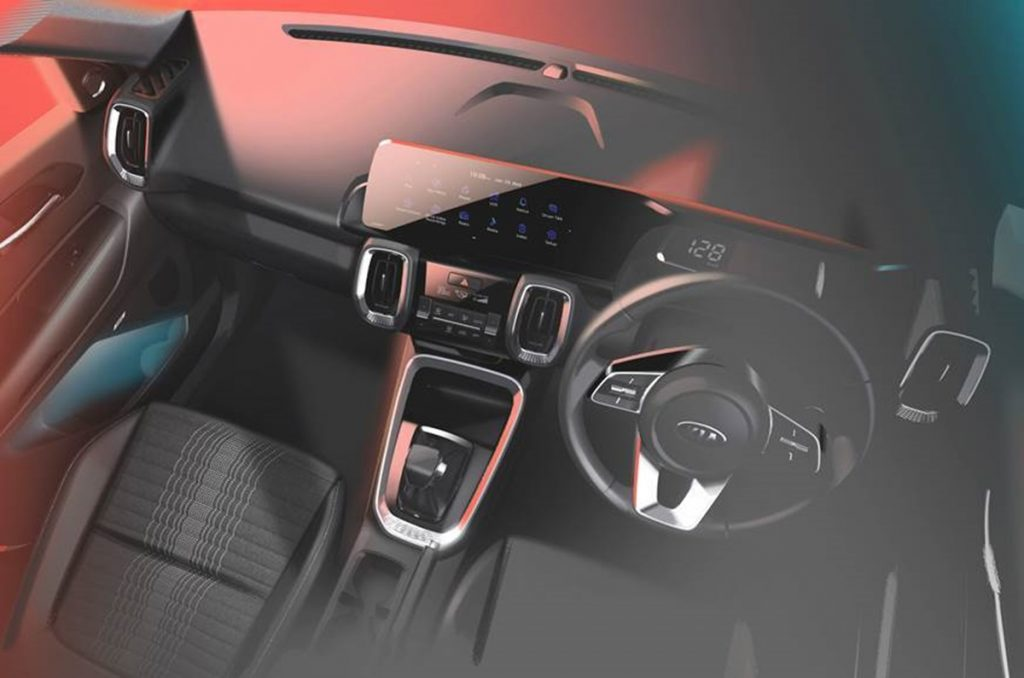 Kia has revealed the interiors of the Sonet through new design sketches.