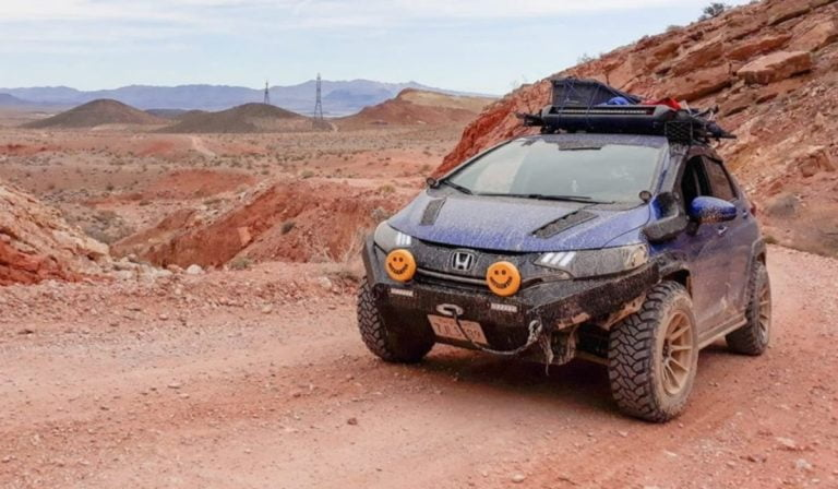 Honda Jazz Stunningly Modified Into a Rugged Off-Roader – Video