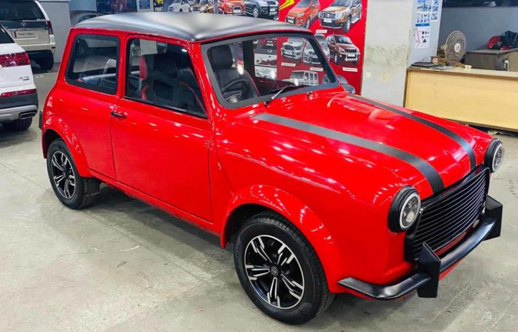 Except for its shade of red, doesn't this Modified Premier Padmini already remind you of Mr. Bean's Mini Cooper?