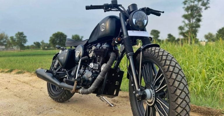 Modified Royal Enfield Doing a Great Job in Looking Like a Harley!