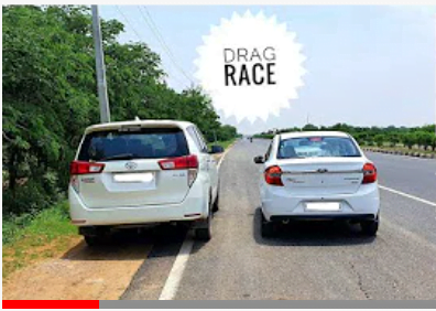 Ford Aspire Vs Toyota Innova Crysta Drag Race – See The Unexpected Winner