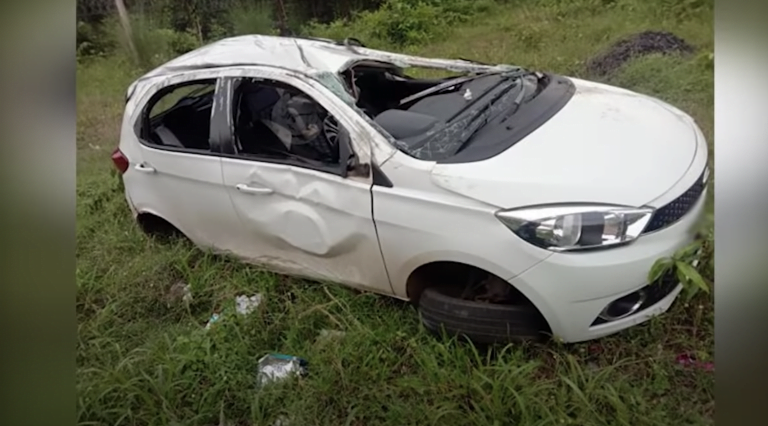 Tata Tiago Rolls Over For 80 Metres After Crashing At 100 – See Impact