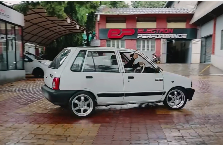 This Electric Maruti 800 Gets Rear-Wheel Drive And Produces 378 Nm Torque!