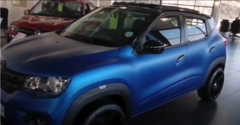 This Modified Renault Kwid Gets Bigger Alloy Wheels And Panoramic Sunroof!