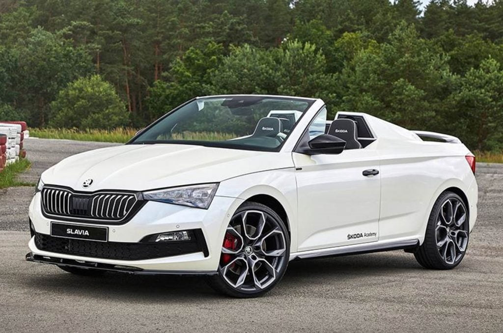 This is the Skoda Slavia, a one-off project based on the Skoda Slavia.