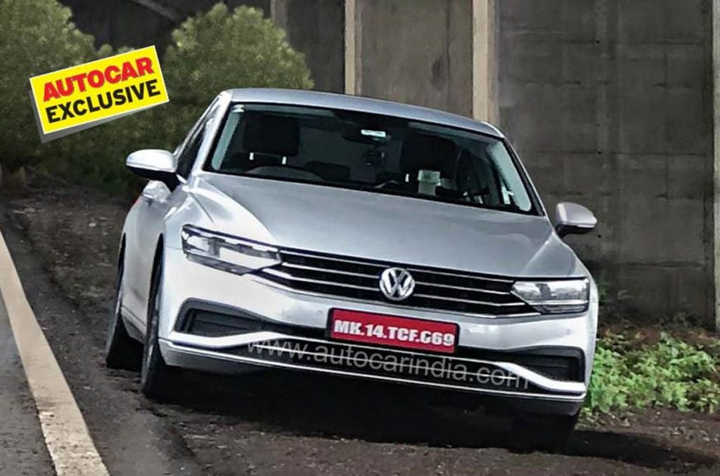 Volkswagen Passat facelift spied testing in India and it could make a comeback.