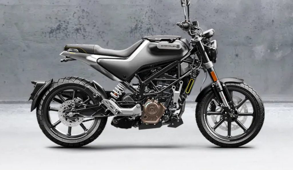 The Husqvarna 250 uses the frame and engine from the KTM Duke 200.