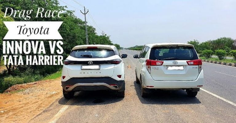 Tata Harrier Easily Defeats The More Powerful Toyota Innova In This Race!