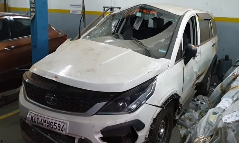 This Tata Hexa Rolled Atleast 10 Times And Kept Passengers Safe