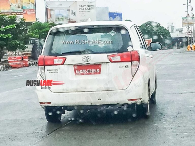 Toyota Innova Petrol CNG Spied Testing Again; Launch Expected Soon