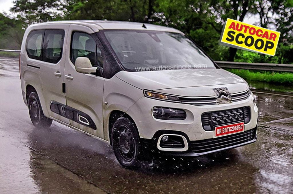 The Citroen Berlingo is a popular people-mover in Europe and it has recently been spied testing in India.