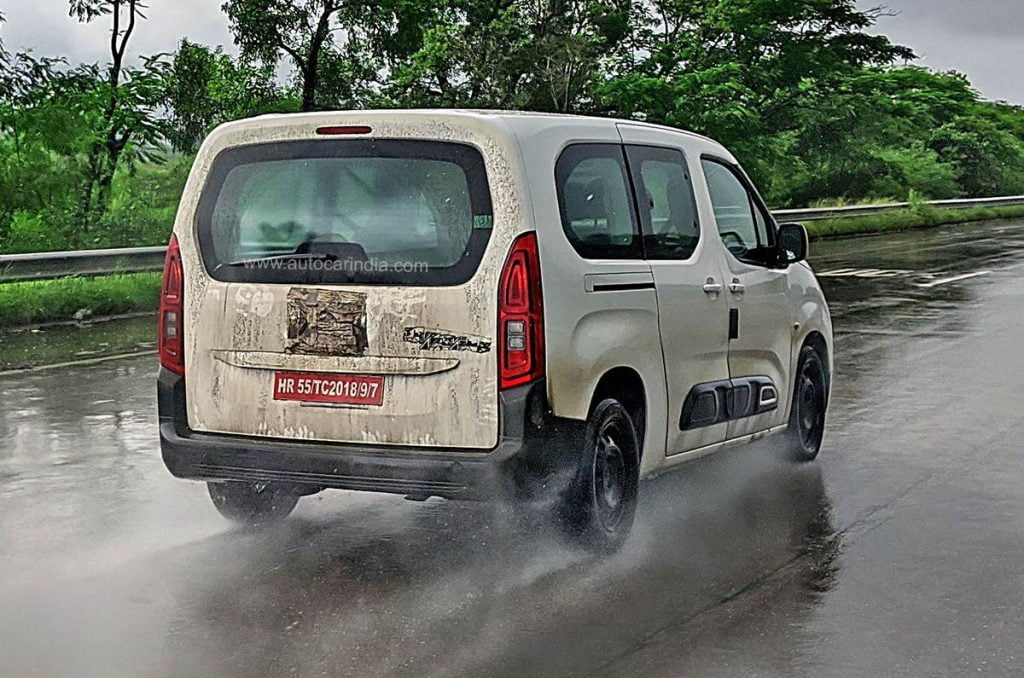The Berlingo is most likely being used as a test bed for a 1.2-litre turbo-petrol engine for the C-Cubed range from Citroen.