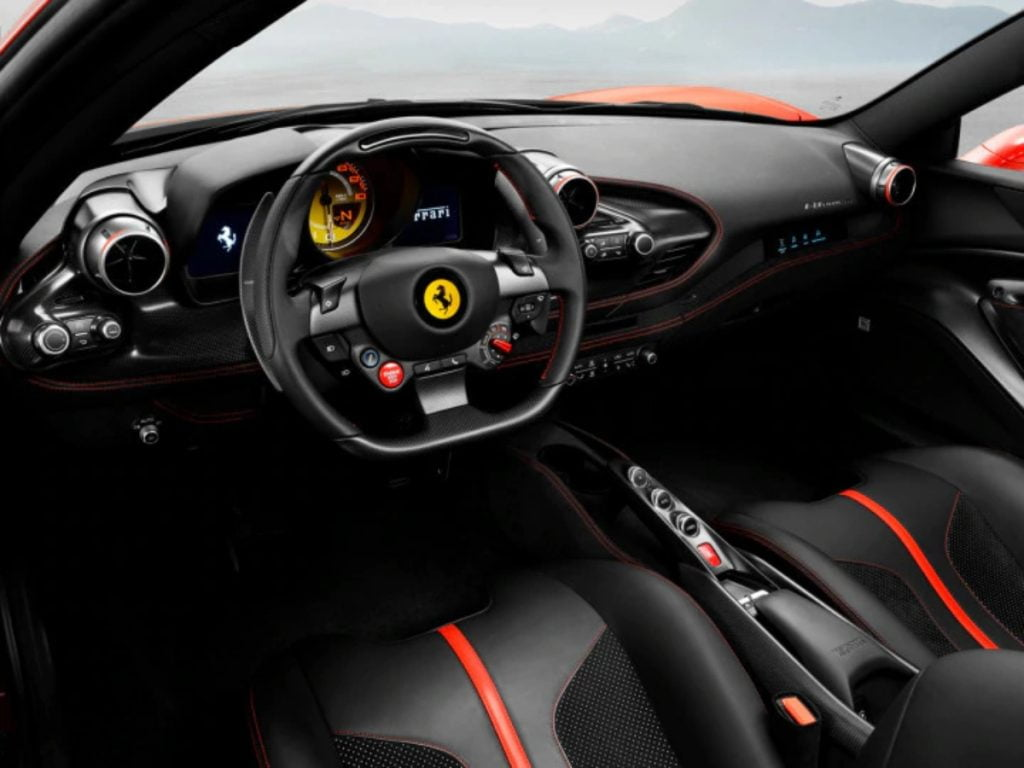 Ferrari F8 Tributo Interiors.