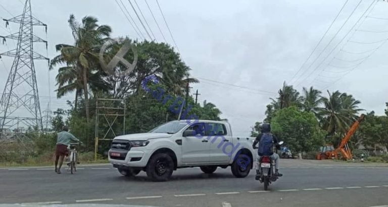 Ford Ranger Spied Testing In India; To Rival Isuzu D-Max V-Cross?