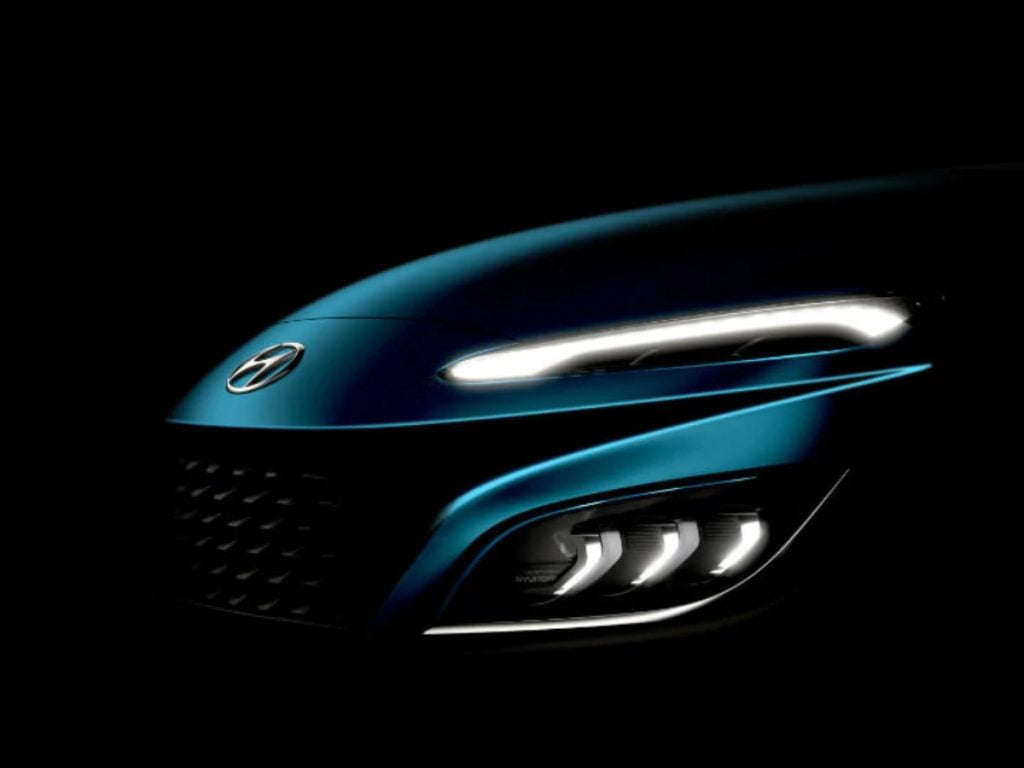 Hyundai has dropped a couple of teasers of what seems to be a mid-life facelift for the Kona.