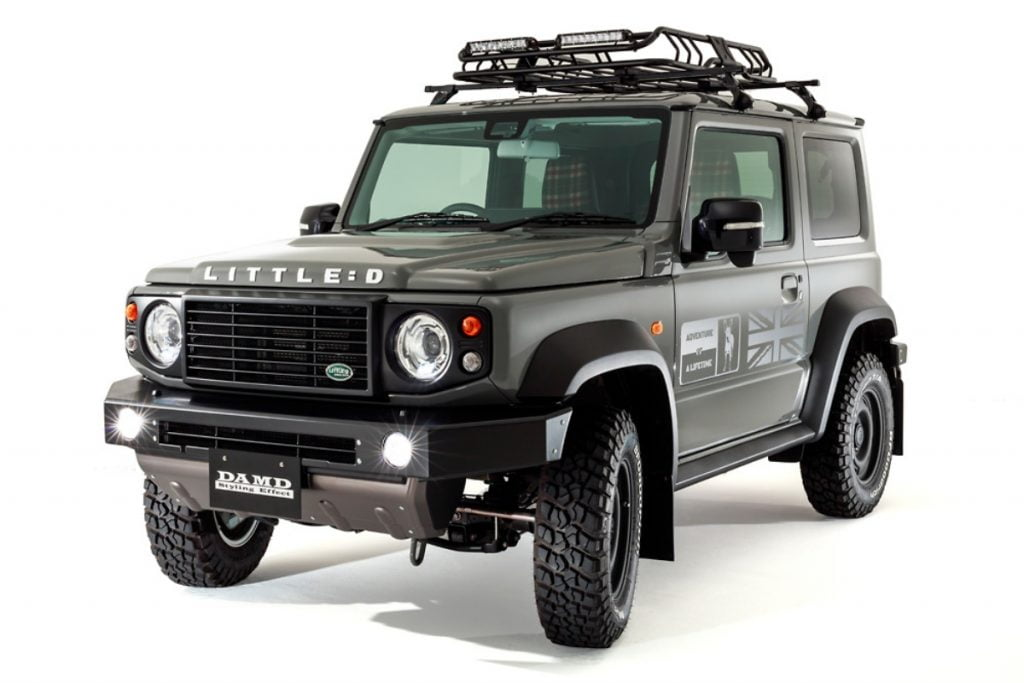 Is this a Jimny or a Defender? Or perhaps a Jimny modified to be a Defender.