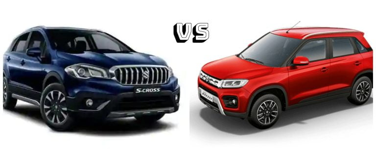 Maruti Vitara Brezza Petrol Vs S-Cross Petrol – Detailed Price Difference
