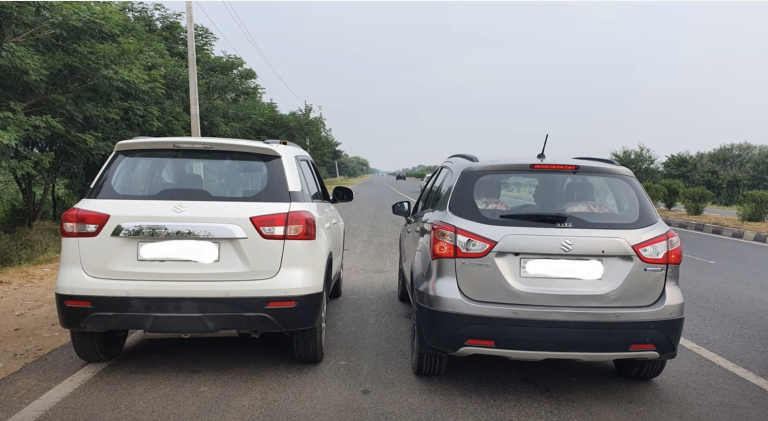 Maruti Vitara Brezza Vs S-Cross Drag Race – See Which One Is Faster