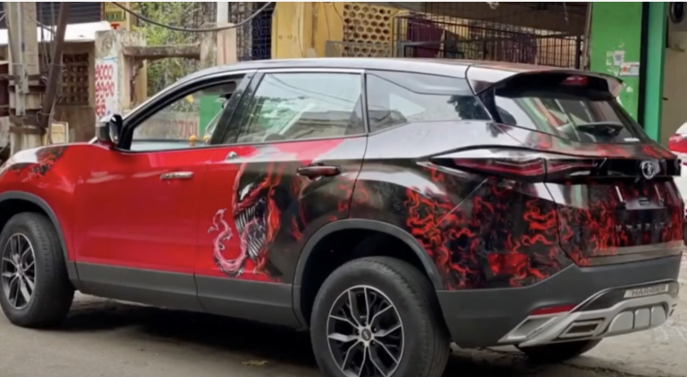 Here's A Tata Harrier That Looks Dope With Deadpool and Venom Wrap