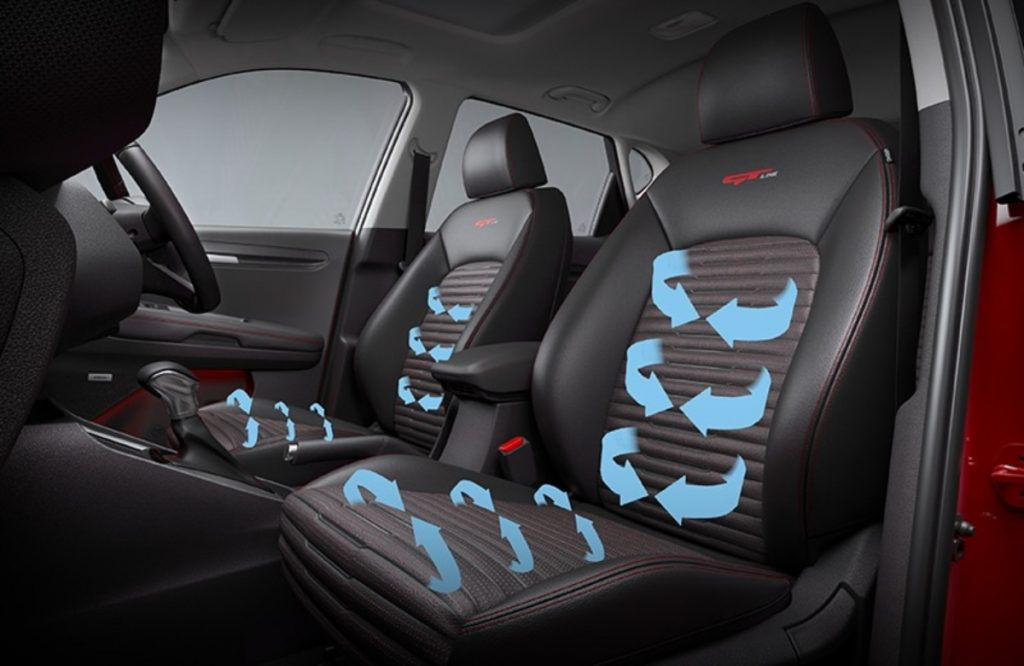The ventilated seats on the Kia Sonet will be a huge welcome in Indian climatic conditions.