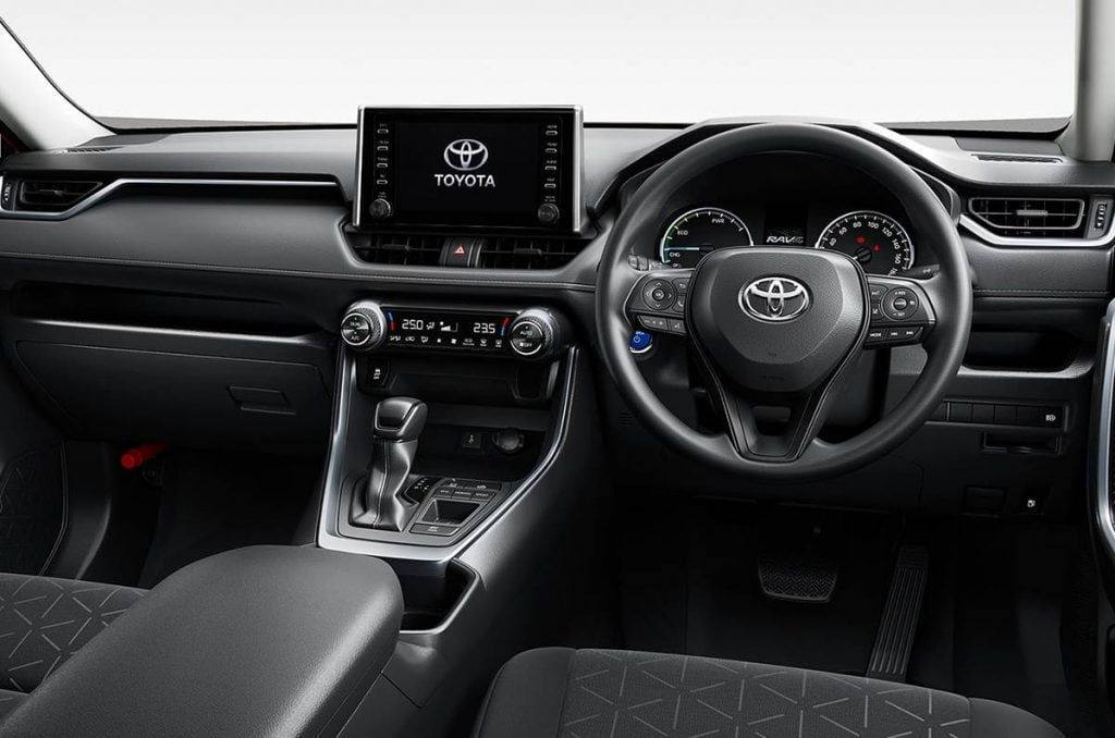 Intérieurs du Toyota RAV4.