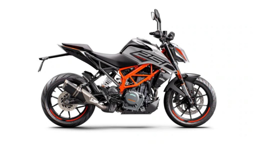 The Duke 250 now also features a Supermoto mode, just like the Duke 390.