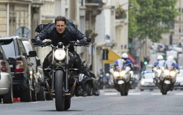 Tom Cruise is Again Jumping Motorcycles in the Latest Mission Impossible Film!