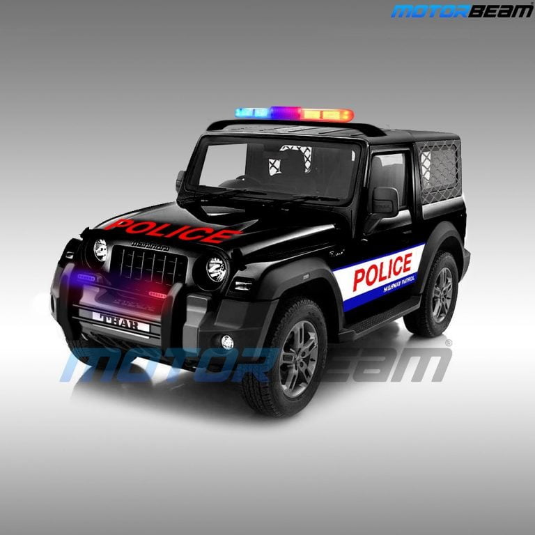 Mahindra Thar Rendered As A Police Jeep – Here's How It Could Look