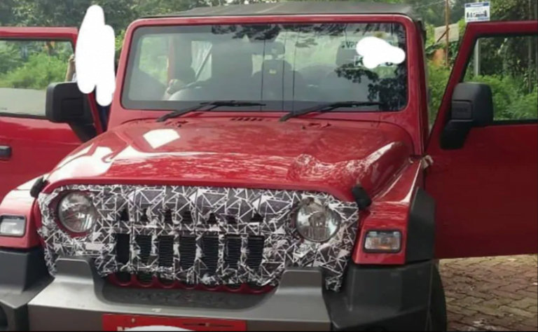 Mid-Spec Variant of Mahindra Thar Spotted With New Grille Design!