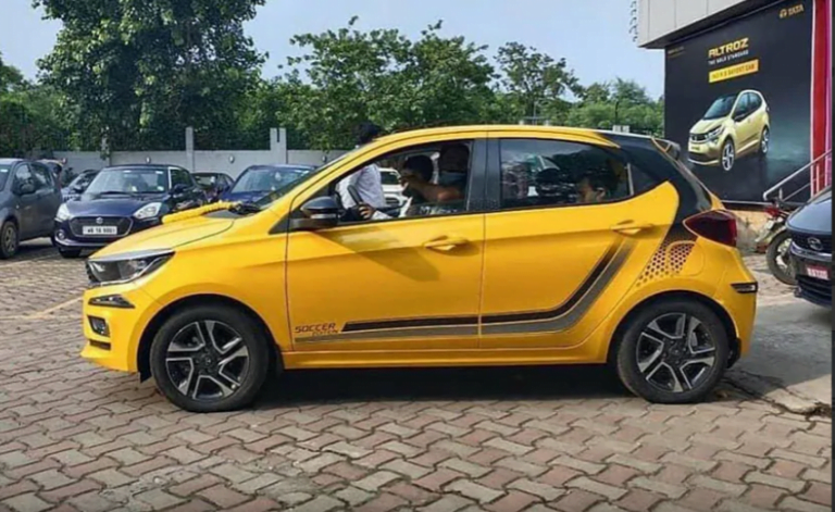 Tata Tiago Soccer Edition Spotted at Dealership; More Special Edition Models to Follow!