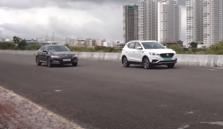 MG ZS EV Vs Skoda Superb Drag Race – See The Unexpected Winner