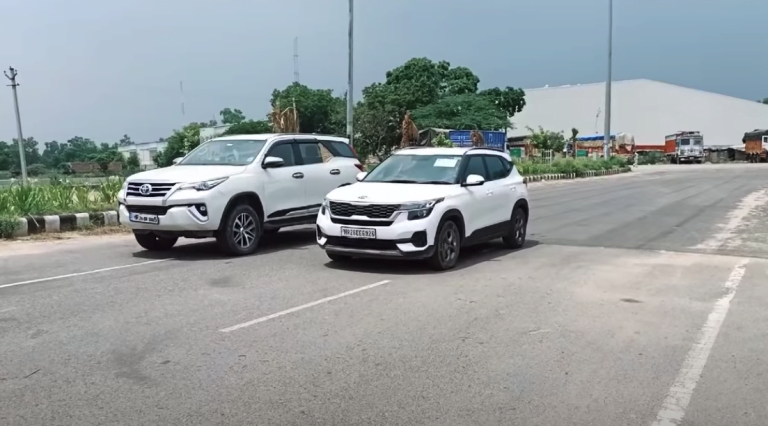 See How Kia Seltos Easily Defeats Toyota Fortuner In This Drag Race
