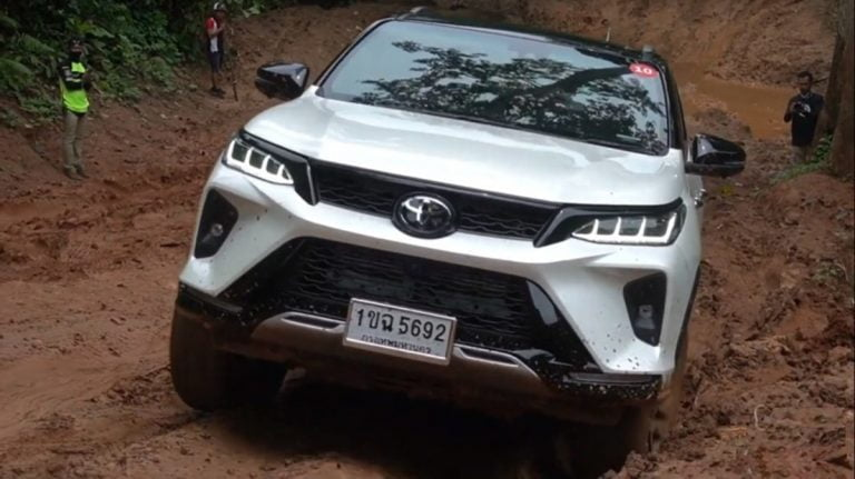 Check Out The Toyota Fortuner Legender Do Some Serious Off-Roading in Video!