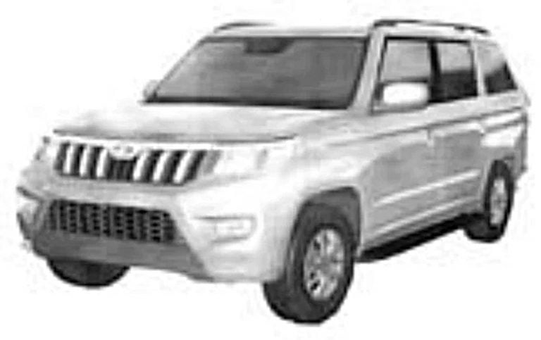 Mahindra TUV300 Plus Facelift Design Leaked by New Patent Images!