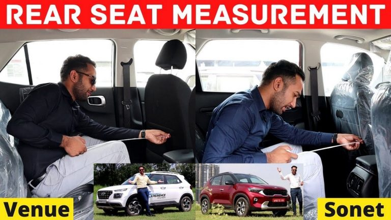 Rear Seat Space Of Hyundai Venue And Kia Sonet Compared – Video